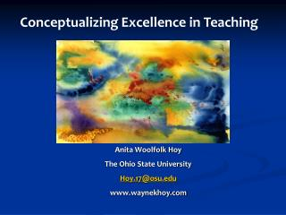 Anita Woolfolk Hoy The Ohio State University Hoy.17@osu waynekhoy