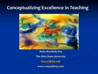 Anita Woolfolk Hoy The Ohio State University Hoy.17@osu waynekhoy