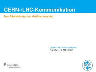 CERN-/LHC-Kommunikation
