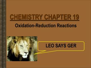 CHEMISTRY CHAPTER 19