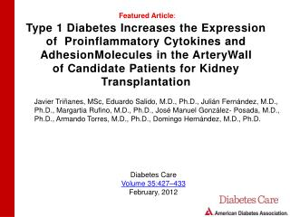 Type 1 Diabetes Increases the Expression of   Proinflammatory  Cytokines and