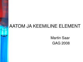 AATOM JA KEEMILINE ELEMENT
