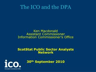 The ICO and the DPA