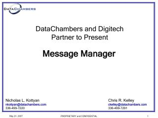 Message Manager