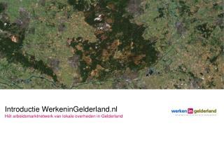 Introductie WerkeninGelderland.nl Hét arbeidsmarktnetwerk van lokale overheden in Gelderland