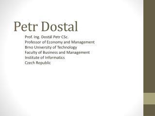 Petr Dostal