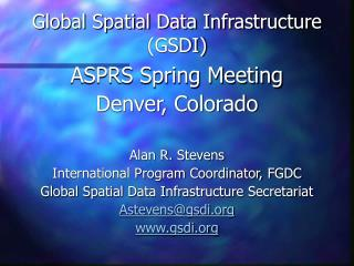 Global Spatial Data Infrastructure (GSDI)