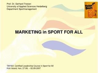 MARKETING in SPORT FOR ALL