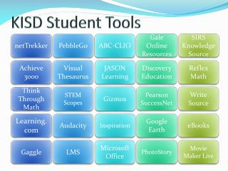 KISD Student Tools