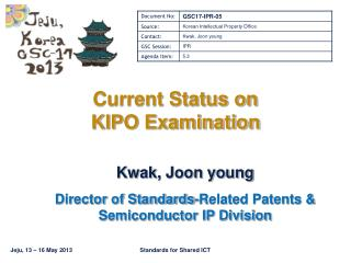 Current Status on KIPO Examination