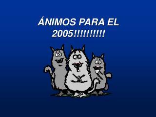 ÁNIMOS PARA EL 2005!!!!!!!!!!