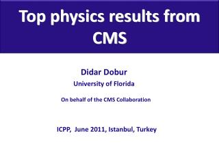 Top physics results from CMS