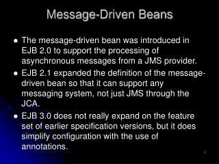 Message-Driven Beans