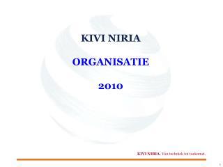 KIVI NIRIA ORGANISATIE 2010