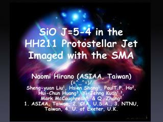 SiO J=5-4 in the  HH211 Protostellar Jet  Imaged with the SMA