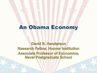 An Obama Economy