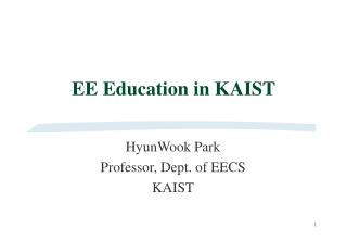 EE Education in KAIST