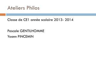 Ateliers Philos