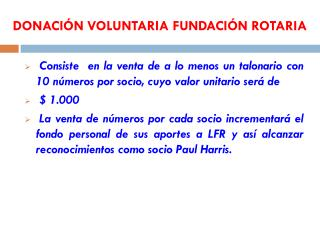 DONACIÓN VOLUNTARIA FUNDACIÓN ROTARIA