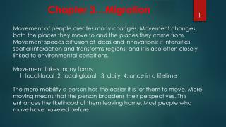 Chapter 3…Migration