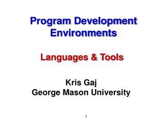 Program Development Environments