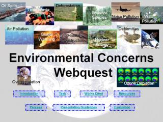 Environmental Concerns  Webquest
