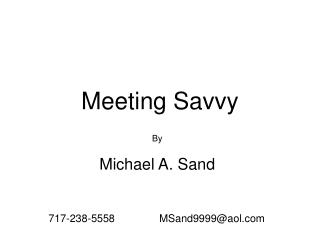 Meeting Savvy