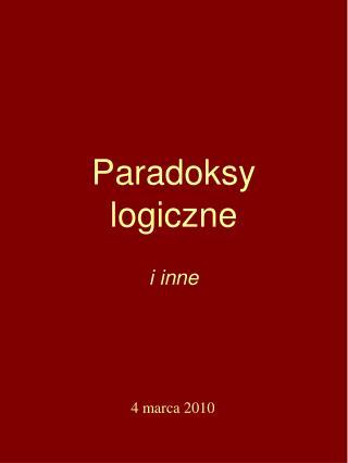 Paradoksy logiczne