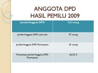 ANGGOTA DPD HASIL PEMILU 2009