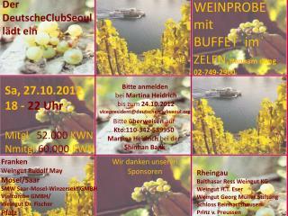 WEINPROBE mit  BUFFET  im  ZELEN , Hannam dong  02-749-2900