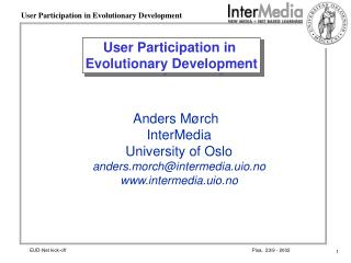 User Participation in  Evolutionary Development