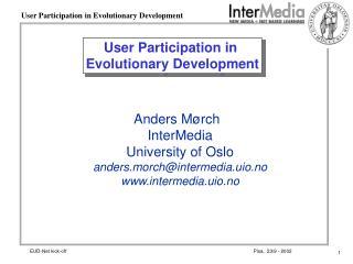 User Participation in  Evolutionary Development