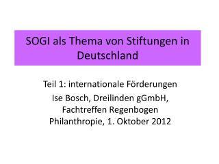 SOGI als Thema von Stiftungen in Deutschland