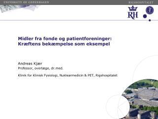Midler fra fonde og  patientforeninger : Kræftens bekæmpelse som  eksempel
