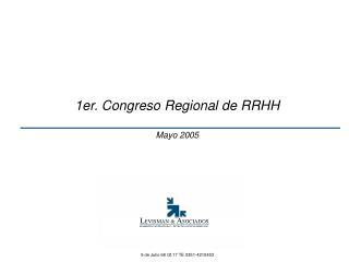 1er. Congreso Regional de RRHH Mayo 2005