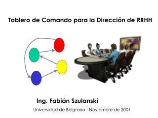 Tablero de Comando para la Dirección de RRHH Ing. Fabián Szulanski