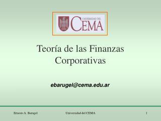 Teor�a de las Finanzas Corporativas