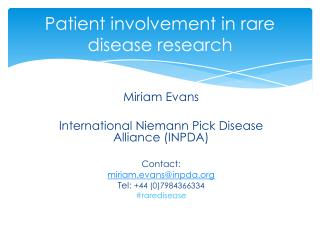 Patient involvement in rare disease research