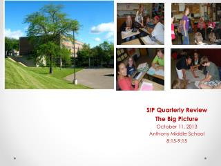 SIP Quarterly Review  The Big Picture October 11, 2013 Anthony Middle School 8:15-9:15