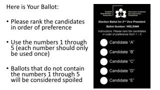Here is Your Ballot: Please rank the candidates in order of preference
