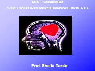 I.F.D. � TACUAREMB� CHARLA SOBRE INTELIGENCIA EMOCIONAL EN EL AULA