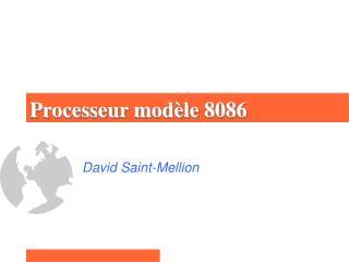 Processeur modèle 8086