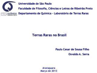 Universidade  de S�o Paulo Faculdade  de  Filosofia ,  Ci�ncias  e  Letras  de  Ribeir�o Preto