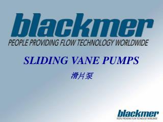 SLIDING VANE PUMPS 滑 片泵
