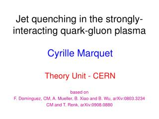 Jet quenching  in  the  strongly- interacting quark-gluon  plasma