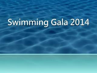 Swimming Gala 2014