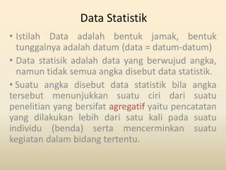 Data Statistik