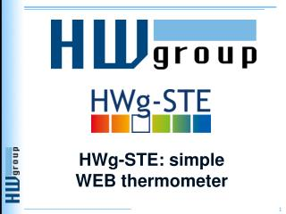 HWg-STE:  simple WEB  thermometer