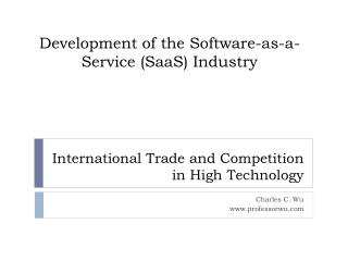 International Trade and Competition in High  Technology
