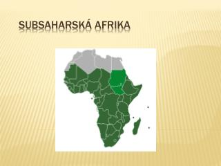 Subsaharsk� Afrika